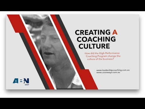Creating a Coaching Culture