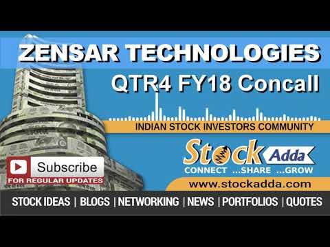 Zensar Technologies Ltd Investors Conference Call Q4FY18