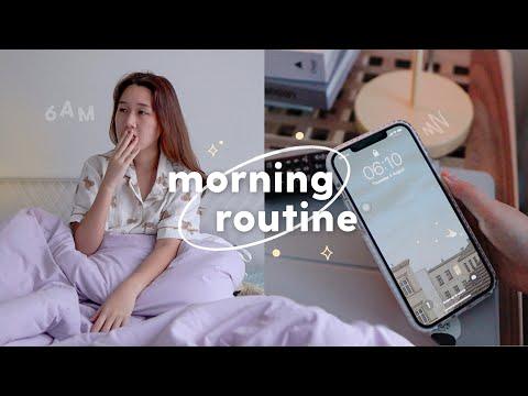 6AM Morning Routine☁️ ตื่นเช้าแบบนี้ ทำอะไรบ้าง? Peanut Butter