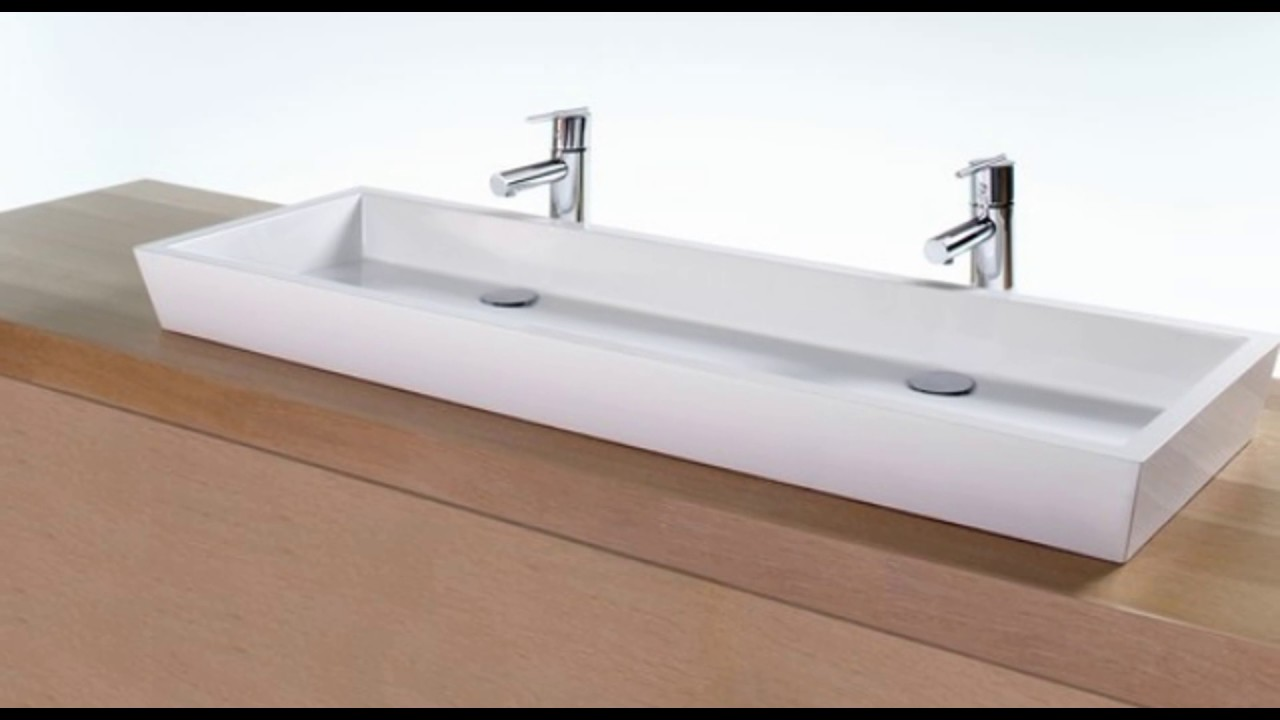 double trough sinks for bathrooms - YouTube