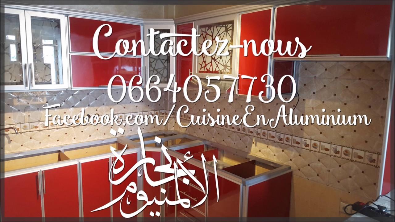 Cuisine Gris Et Bordeaux cuisine en aluminium rouge bordeaux - youtube