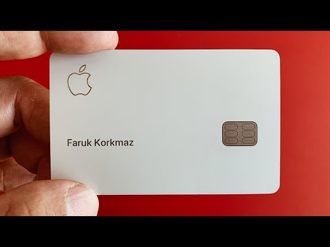 Apple Kredi Kartı kutu açılışı ve incelemesi