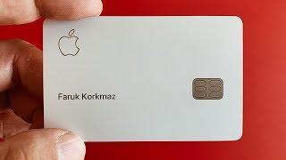 Apple Kredi Kartı kutu açılışı ve incelemesi.