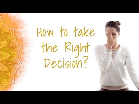 How to take the Right Decision? Using Nadi Shodhana (One Yogic Technique)
