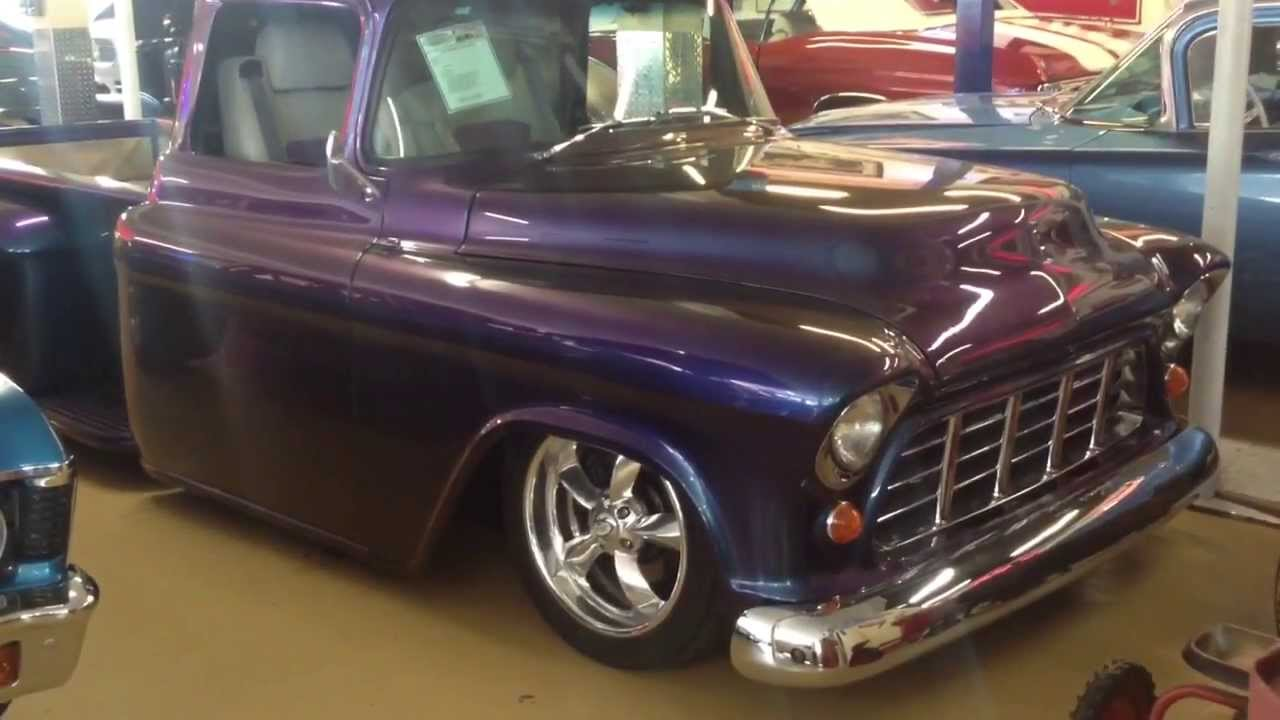 1955 Chevy Truck >> Must see Custom 1955 Chevy 3100 Stepside show truck - YouTube