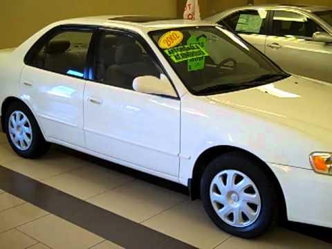 Good 2002 Toyota Corolla LE White Automatic