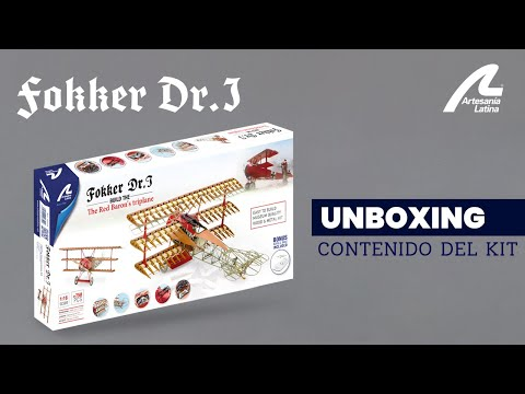 #Unboxing Kit Fokker Dr. I 1/16 - The Red Baron's Triplane | Artesanía Latina