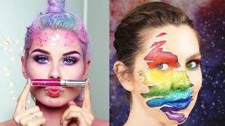 ✨ FALL COLORS WHO? Colorful Rainbow Makeup 😍| Best Makeup Tutorials 2018 | Woah Beauty