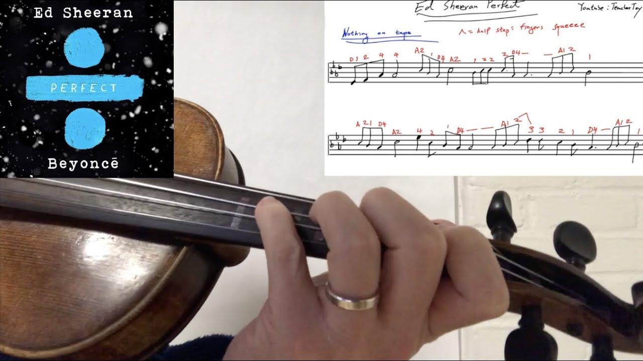 Ed Sheeran Perfect Violin Tutorial w/ Sheet Music and Violin Tab