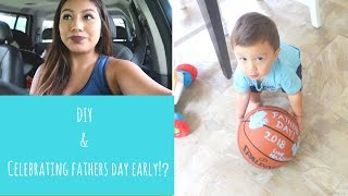 Attempting Pinterest Diy With A 1 Year Old| Father's Day Idea 2018!!| Army Wife Life