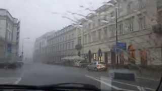 Torrential Afternoon Rains in Warsaw
