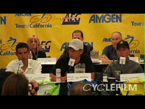 Lance Armstrong & Paul Kimmage verbal battle at Tour of California 2009