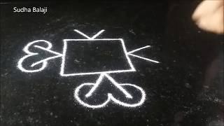Classical kolam without dots for New Year | Sudha Balaji