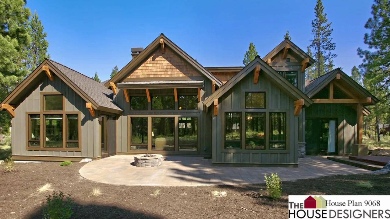 Craftsman Style House Plan THD-9068, Craftsman Floor Plans