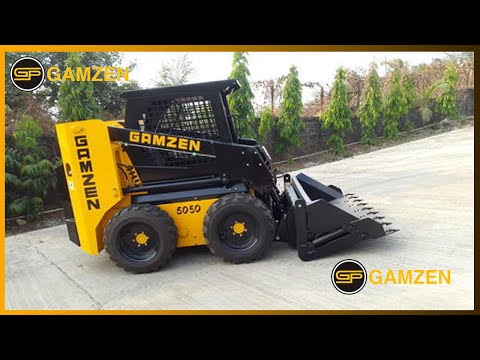 skid steer loader and concrete mixer