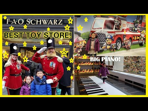 FAO Schwarz In New York City Tour | Biggest Toy Store In NYC |Playing The Big Piano In FAO