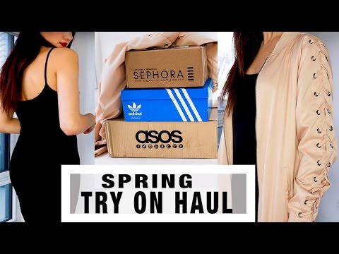 SPRING TRY ON HAUL | Online Shopping: ASOS, Adidas, Sephora