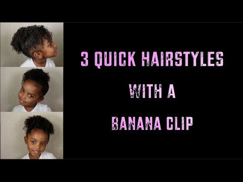 How To 3 Quick Hairstyles With A Banana Clip Yoshidoll Youtube