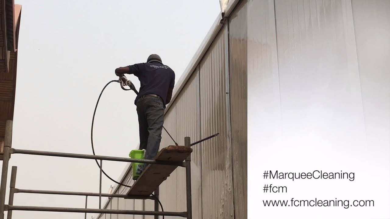 Marquee Tent Cleaning by FCM  sc 1 st  YouTube & Marquee Tent Cleaning by FCM - YouTube