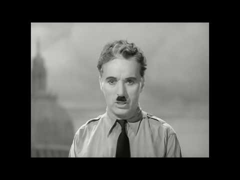 The Great Dictator Speech - Charlie Chaplin with JD Dies from Public Enemies ST