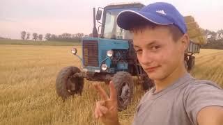Трактор мтз едит сам. Лето 2017. Вьвоска Тюков с мтз 82.1 с прицепом 2ПТС4