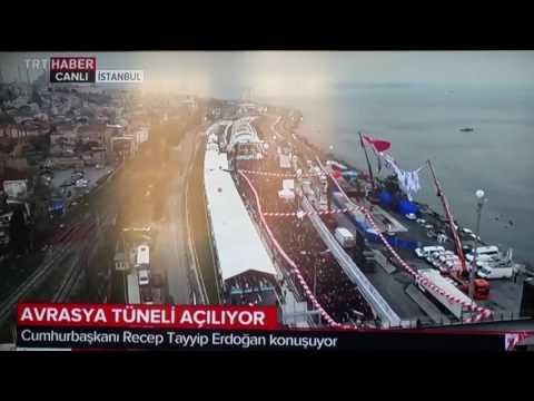 Inauguration du tunnel  Eurasia  sous le Bosphore  .