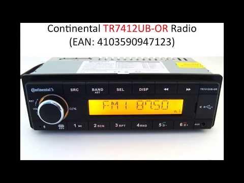 Install Continental (TR7412UB-OR) Radio on Mercedes 190E (W201): 1. Parts list