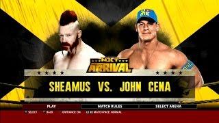 WWE 2K16 Gameplay Sheamus Vs. John Cena NXT Arrival PS3 HD