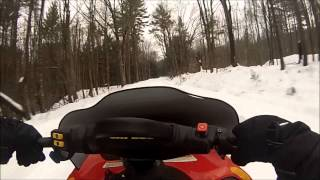 First Person Snowmobile High Speed Beat Run