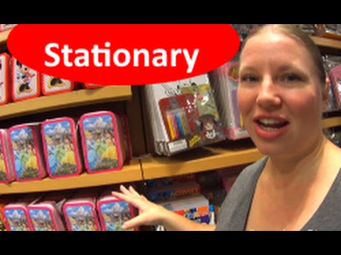 Shopping for Stationary Items at the World of Disney w/prices!