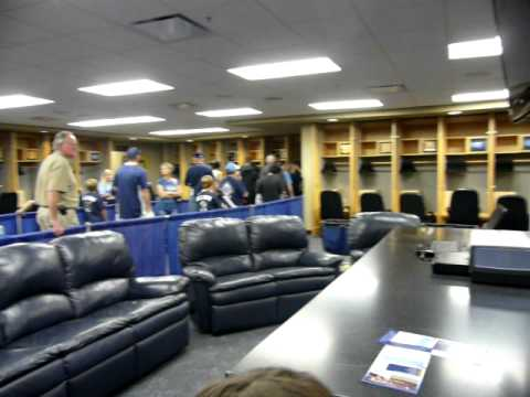 Tampa Bay Rays locker room