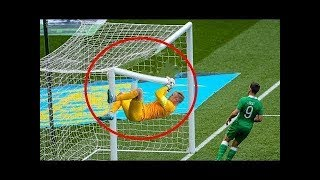 10 FUNNIEST MOMENTS WITH FOOTBALL CROSSBAR