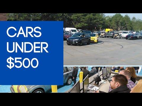 Previewing Used Cars Under $500 At The Auction