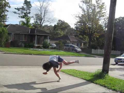 How to Do a standing full (backflip 360) freerun trick ...