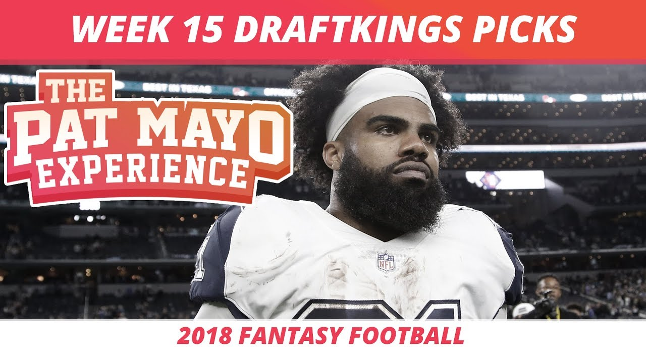 2018 Fantasy Football Week 15 Draftkings Picks Preview Youtube