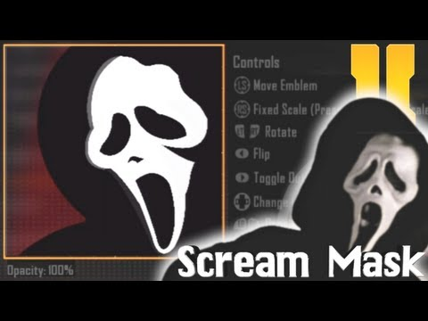 Black Ops 2 - Scream Mask Emblem Tutorial