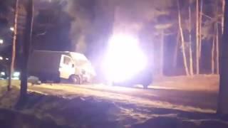 Водитель сгорел заживо после ДТП