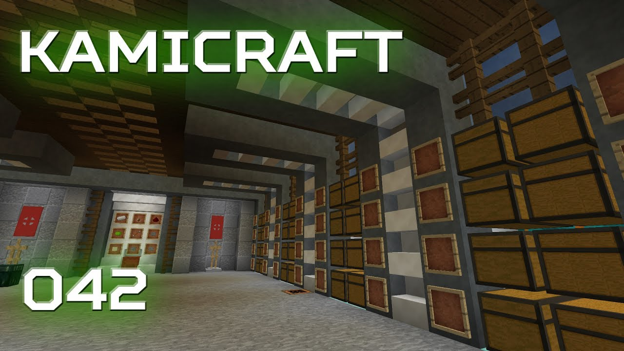 Kamicraft   042 Modern Storage Room / A Minecraft Letu0027s Play!