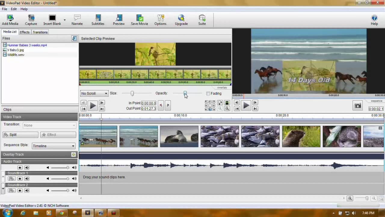 NCH Software VideoPad Video Editor