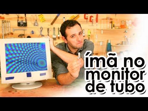 ÍMÃ no monitor CRT (EXPERIÊNCIA)