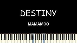 Mamamoo(마마무) - Destiny(우린 결국 다시 만날 운명이었지)(Piano Cover)(피아노 커버)