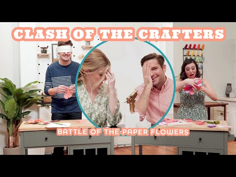 2 Newbie Crafters Attempt Crepe Paper Flowers  - Clash of the Crafters - HGTV Handmade