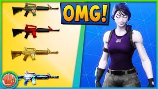 WEAPON SKINS & BASKETBALL STADIUM?! -Fortnite: Battle Royale