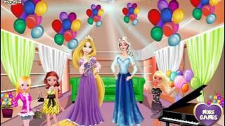 NEW Мультик Онлайн для девочек—Вечеринка Эльзы и Рапунцель—Игры для детей