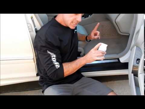 How to remove black scuff marks from car interior: MBZ C230