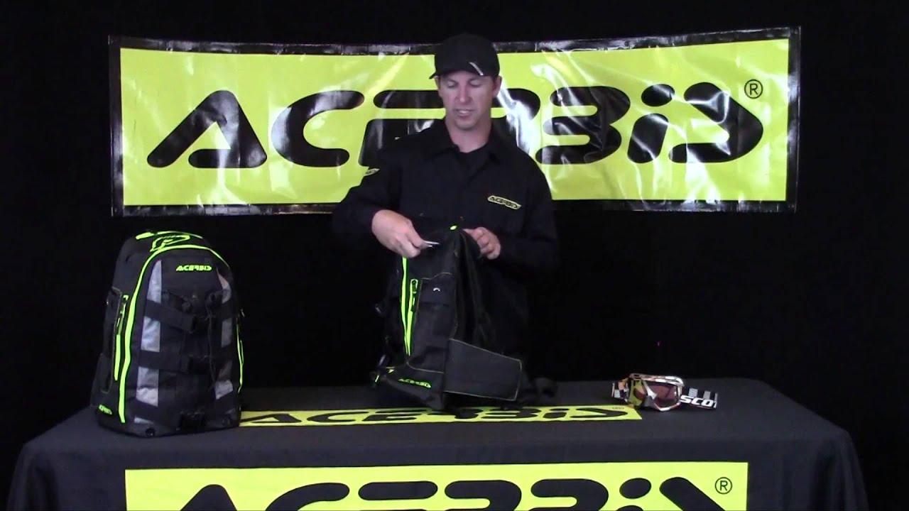 ACERBIS H20 HYDRATION DRINK BACKPACK CAMEL BACK PACK TOOL BAG MX ENDURO MTB