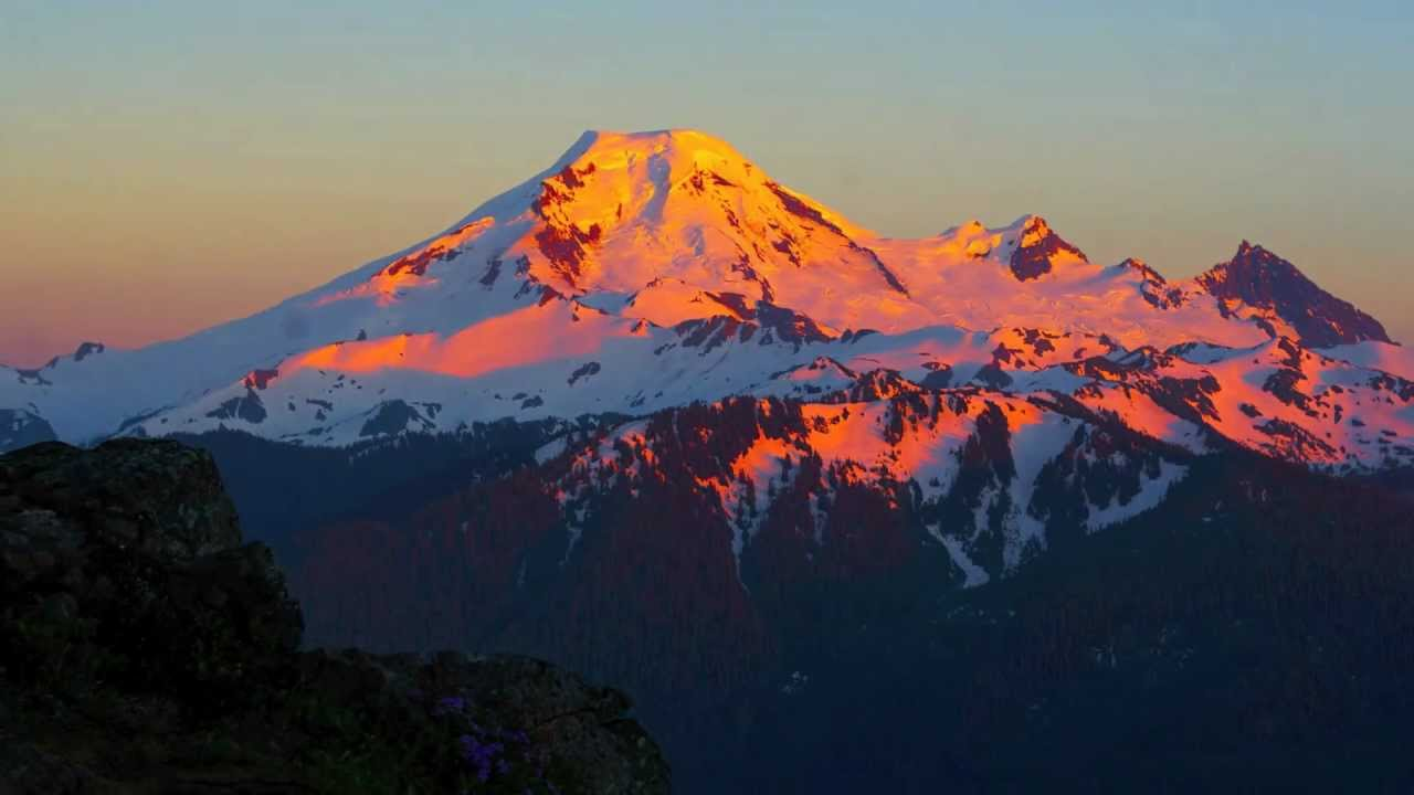 Mt baker sunset timelapse photography for Chair 6 mt baker