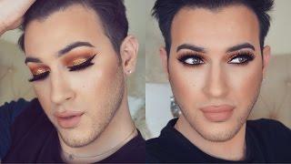 bronze glitter smokey eye holiday makeup tutorial   mannymua