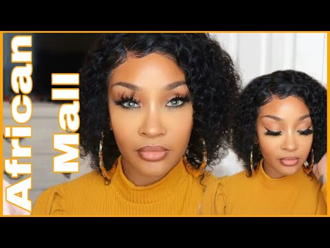 AFFORDABLE CURLY BOB 2 WEEK UPDATE| FT. AFRICAN MALL