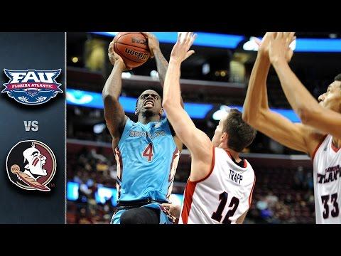 Florida State vs. Florida Atlantic Basketball Highlights (2015-16)